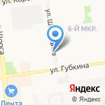 Медуница на карте Белгорода