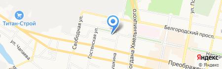 Сеть авиа и железнодорожных касс на карте Белгорода