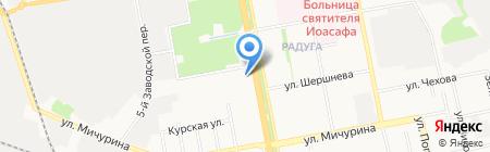 Интерстиль на карте Белгорода