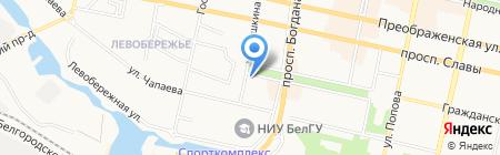 Беллави на карте Белгорода