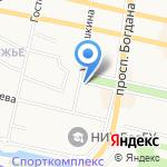 Фрактал на карте Белгорода