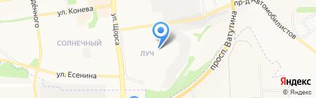 Темп на карте Белгорода
