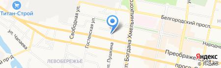 Причал на карте Белгорода