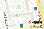 Схема проезда до компании ВИС-Белогорье ИТ в Белгороде