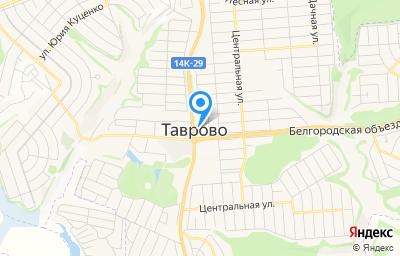 Местоположение на карте пункта техосмотра по адресу Белгородская обл, Белгородский р-н, мкр Таврово-2 (с Таврово), пер Парковый, д 27А