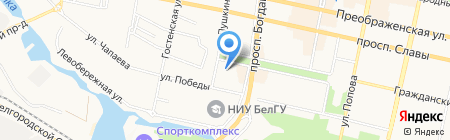 Аварийная служба на карте Белгорода