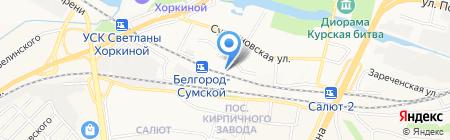 Московский государственный университет путей сообщения на карте Белгорода