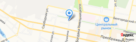 Капитан на карте Белгорода