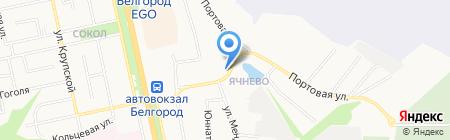 Баня на Урожайной на карте Белгорода