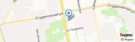 Дверной на карте Белгорода