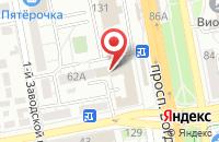 Схема проезда до компании Советникъ в Белгороде