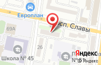 Схема проезда до компании ОПТИМА в Белгороде