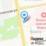 Данила-Мастер на карте Белгорода