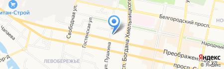 Прокуратура Белгородского района на карте Белгорода