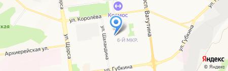 Средняя общеобразовательная школа №40 на карте Белгорода