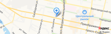 Моника на карте Белгорода