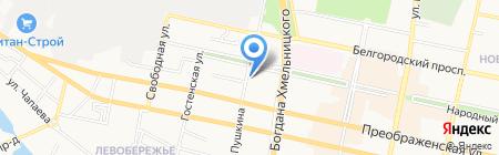 Гармония Здоровья на карте Белгорода