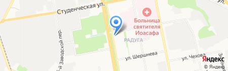 Вертикаль на карте Белгорода