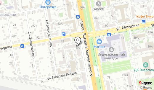 Адвокатский кабинет Бочарова Б.В.. Схема проезда в Белгороде