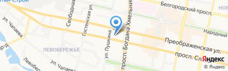 АКБ Росбанк на карте Белгорода