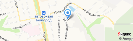 Управление по делам ГО и ЧС г. Белгорода на карте Белгорода
