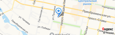 Часовня Воздвижения Креста Господня на карте Белгорода