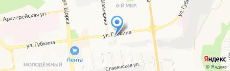 Химчистка ковров на карте Белгорода