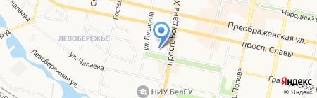 Московский Индустриальный Банк на карте Белгорода
