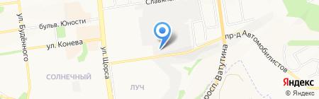 Виннас на карте Белгорода