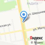 Шапицца на карте Белгорода