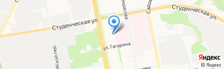 1001 запчасть на карте Белгорода