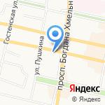 Корица на карте Белгорода