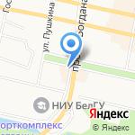 Пантера на карте Белгорода