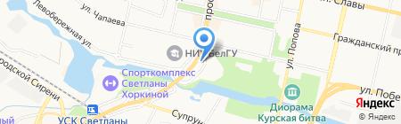 АЗС на карте Белгорода
