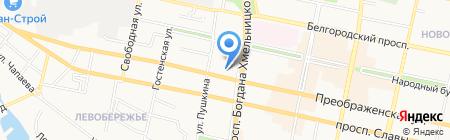 Радиодетали на карте Белгорода