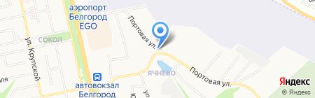 Монолит на карте Белгорода