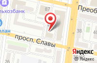 Схема проезда до компании Высокие Технологии в Белгороде