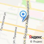 Бета-Черноземье на карте Белгорода