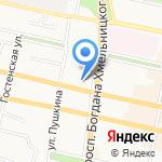 Бантик на карте Белгорода