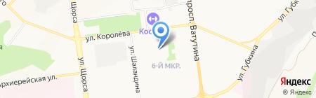 Бригантина на карте Белгорода