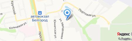 Металлопрофиль на карте Белгорода