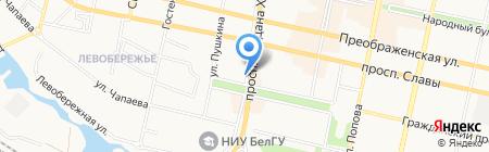 Ткани всем на карте Белгорода