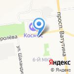 Схема на карте Белгорода