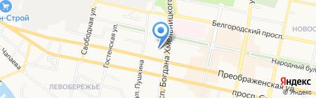 Арго на карте Белгорода