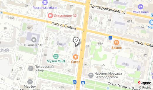 Калипсо. Схема проезда в Белгороде