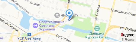 Лента на карте Белгорода