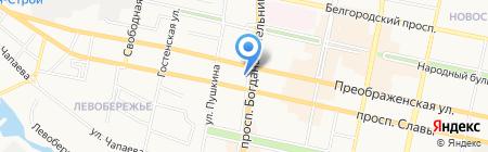 Центральный переговорный пункт на карте Белгорода