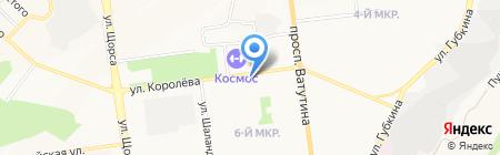 Фиалка на карте Белгорода