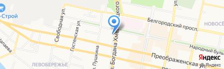 Магазин рыболовных принадлежностей на карте Белгорода