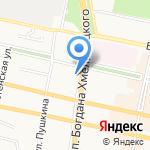 Мир рамок на карте Белгорода